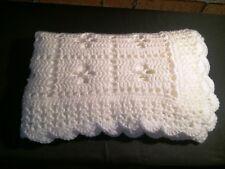 "BestSeller Larger Classic white ""Call the Midwife"" handmade crochet baby blanket"