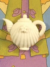 Margaret Furlong Porcelain Bisque Teapot Pin Brooch 1997