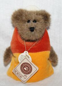 """Boyds Bears Candy B. Corn #919633 Halloween Candy Corn 6"""" Plush Bear NWT"""