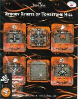Just Nan Spooky Spirits of Tombstone Hill Pattern & TOMBSTONE GHOST PIN