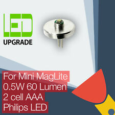 MINI MAGLITE LED conversione / Upgrade LAMPADINA TORCIA / TORCIA 2AAA cella LED Philips