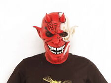 Evil devil With Red and White Face Latex Mask