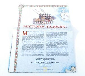 National Geographic Supplement History Of Europe Vintage 1983 G786