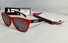 New Oakley Origins Collection Matte Redline Black Ink Frame - Prizm Black Lens