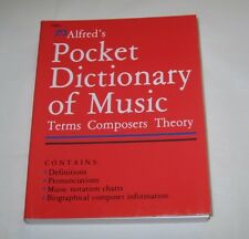 Alfreds Pocket dictionary of music terms composers theory music dictionary