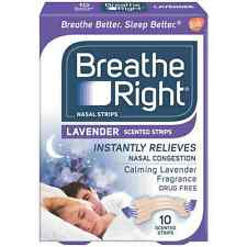 Breathe Right Scented Nasal Strips, Lavender 10 ea (Pack of 2)