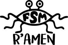 Flying Spaghetti Monster Ramen Decal Window Bumper Sticker Car FSM Noodles
