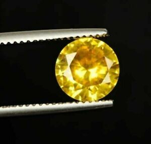 10mm Natural Cambodian Diamond Yellow Zircon 6.50 Ct. Faceted Loose Gemstone Cut