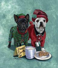 "Precious Pet Garden Flag - French Bulldog Christmas 12"" x 18"" ~ Charity!"