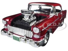 1955 CHEVROLET BEL AIR BURGUNDY W/ BLOWER TIMELESS CLASSICS 1/18 MOTORMAX 79002