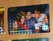 STREET FIGHTER II ZERO CARD PRISM HOLO CARD 6 RYU & KEN MADE IN JAPAN 1995 NM