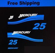 Mercury Outboard Marine Vinyl 25 hp set mercury outboard  blue Cowl set