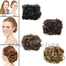Comb Clip In Curly Synthetic Hair Pieces Chignon Updo Cover Hairpiece Extension