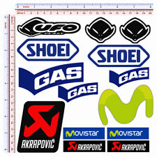 Adesivi sticker sponsor replica gas ufo movistar akrapovic shoei pvc 14 pz.