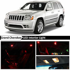 12x Red Interior Map Dome LED Lights Package for 2005-2010 Jeep Grand Cherokee