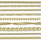 Amberta Echt 925 Sterling Silber Gelb Vergoldet 18K Italien Halskette Collier