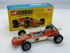 Corgi 158 Lotus Climax F1 Car Driver Controlled Steering Vintage Original /w Box