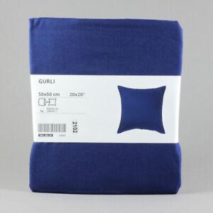 IKEA GURLI Kissenbezug Kissenhülle blau 50x50 cm Baumwolle | NEU