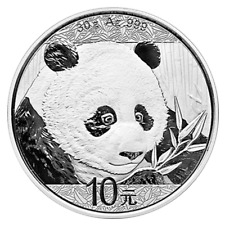 2018 10 Yuan Silver Chinese Panda .999 30g Brilliant Uncirculated