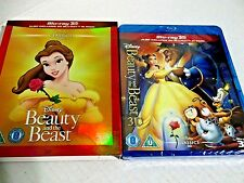 BEAUTY AND THE BEAST Brand New 3D BLU-RAY and 2D w/ SLIPCOVER Disney Movie New