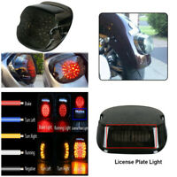 Smoke Lens Low Profile Led Tail Light For Harley Tour Road King glide Dyna FXR &