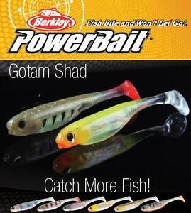 Berkley Powerbait GOTAM SHAD - 5cm 8cm 11cm - All Colours