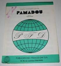 Partition vintage sheet music YVETTE HORNER : Pamadou * Accordéon