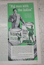 1952 ad page - Jolly Green Giant corn peas ART LINKLETTER vegetables OLD ADVERT