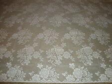 "New White Lace Rose Bouquet design Tablecloth. 52"" x 70"""