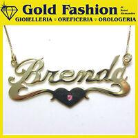 Collana con nome in Argento 925 placcata oro 1 micron