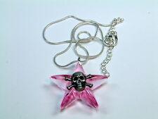 Stern- Totenkopf Halskette   Gothic, emo, Rockin Roll, lila-transparent