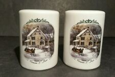 Currier And Ives 2000 Museum Of The City Of New York Salt Pepper Shakers Winter