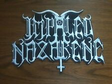 IMPALED NAZARENE # 2,SEW ON WHITE EMBROIDERED LARGE BACK PATCH
