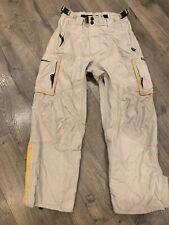 Oakley Software Ski Snowboard Khaki Nylon Vented Zip Cargo Snow Pants Size Small