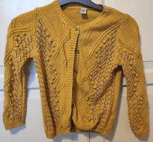 TU Sainsbury's Mustard Yellow 5-6 Years Cardigan Chunky Knit
