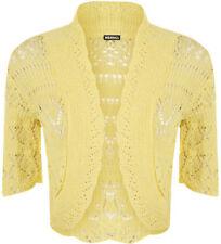 Magliette da donna a manica corta giallo basici