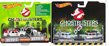 HOT WHEELS  2016 ECTO 1 AND ECTO 2 GHOSTBUSTERS CARTOON CAR SET OF 2 NEW 1/64