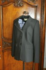 Immaculate Ronit Zilkha Grey Pinstripe Jacket Size 12