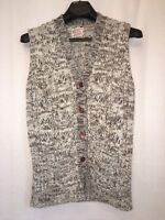 Vintage Kimlon RBK Buttoned Sweater Vest Hippie Boho Womens Medium Korea Brown