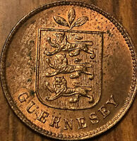 1902 GUERNESEY 1 DOUBLE - Uncirculated