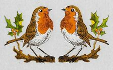 10 Robin VINTAGE DECALS Transfers (Small) CHRISTMAS decorations Unique Retro