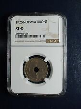 1925 Norway One Krone Ngc Xf45 1K Coin Priced To Sell Now!