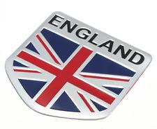 "ALUMINUM England Flag Emblem Sticker 3D Decal For Auto, Car, & Truck 2""x2"""