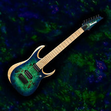 IBANEZ RGDIX7MPB 7 String Iron Label Electric Guitar Surreal Blue Burst Finish