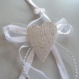 Loop Antenna Or Napkin Rings 12er Set Wedding Christening Heart Silver White