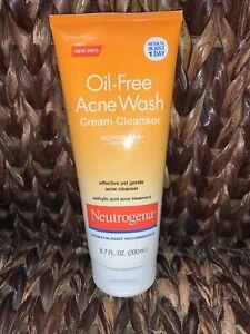 Neutrogena Oil-Free Cream Cleanser, Salicylic Acid 6.7 oz Exp 03/2019