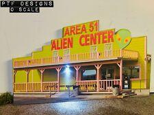 O Scale AREA 51 ALIEN VISTOR CENTER Scratch Built (Flat) Background Lionel MTH