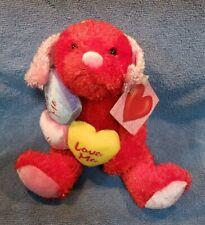 Dan Dee Collector'S Choice Valentine Puppy Kiss Me, Hug Me, Love Me Hearts Nwt