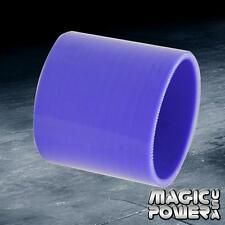 "Blue 2.5"" / 63.5mm Straight Turbo/Intake/Intercooler Pipe Silicone Hose Coupler"