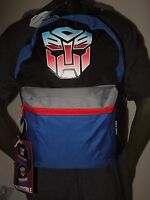 The Transformers Autobots VS Decepticons Cartoon Reversible School Backpack Bag